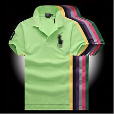Classic comfy Men's POLO Shirt Solid Color Casual Sports Short Sleeve Top US HF