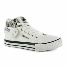 British Knights Womens Roco PU Lds00 Hi Tops Lace Up Plimsolls Shoes Trainers