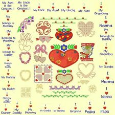Hearts & Flowers Machine Embroidery Designs +Redwork-Anemone Embroidery Designs