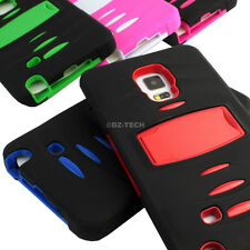 For Samsung Galaxy Note Edge Rugged Hybrid Case Cover Stand w/Built in Screen
