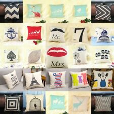 1pcs Square Fashion linen Throw Pillow Cases Home Sofa Decorative Cushion Cover