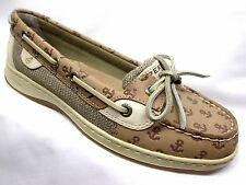 Sperry Top-Sider Angelfish Boat Shoes Womens Linen Embossed Anchor