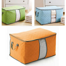 New Bamboo Charcoal Clothes Blanket Quilt Folding Storage Box Closet Organizer