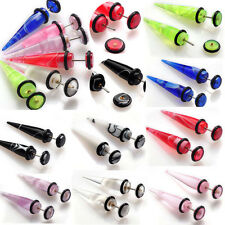 New Punk 2pcs Illusion Ear Fake Cheater Stretcher Rivet Taper Plug Tunnel Gauges