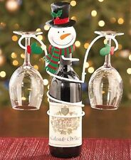 HOLIDAY WINE BOTTLE AND GLASS HOLDER