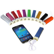 2600mAh Lipstick External Backup Battery Charger Power Bank For Mobile i Phone