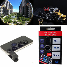 3in1 180° Fish eyeWide Angle Macro Camera Photo Zoom Len for phones Phablet 2014