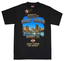 Harley-Davidson Men's Limited 110th Skyline Black T-Shirt Tee. 30296259