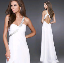 Womens shoulder beaded long toast dress wedding bridesmaid dress wrap skirt