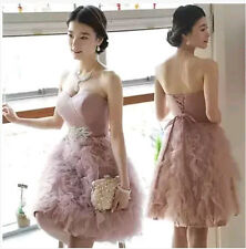Womens annual meeting short Tutu Skirt wedding bridesmaid dress Toast dresses