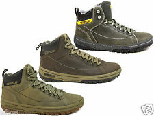 MENS CATERPILLAR CAT APA HI LEATHER WALKING HIKING LACE ANKLE BOOTS SIZE 6 - 12