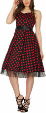 'Rhya' Vintage Polka Dot Rockabilly 1950's Swing Pin Up Prom Dress