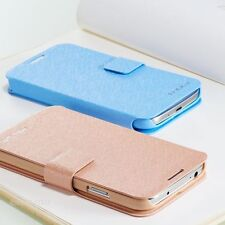 Luxury Silm Wallet Silk Leather Stand Flip case cover for Samsung Galaxy Phone