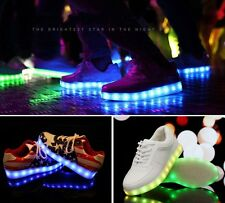 Popular Men Womens USB Charger 7 Colors Led Lighted Up Sneaker Dancer Club Shoes