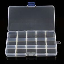 10/15/24 Compartments Plastic Box Jewelry Bead Storage Container Craft Organizer