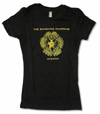 "SMASHING PUMPKINS ""OCEANIA"" GIRLS JUNIORS BLACK T SHIRT NEW OFFICIAL"