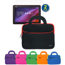"""Handle Carrying Sleeve Case+2pc LCD For Asus MeMO Pad 10 ME103K 10.1"""" Tablet"""