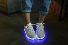 Fashion Sneaker Dancing Party Queen Shoes Lace Up Light LED Sports Women's Hot