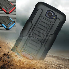 Rugged Hybrid Case Hard Cover Clip Holster For Alcatel One Touch Pop Icon 7040T