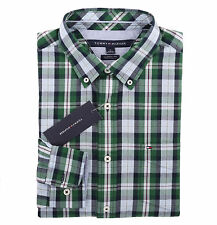 Tommy Hilfiger Men Long Sleeve Classic Fit Button Down Plaid Shirt - $0 ship