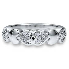 BERRICLE Sterling Silver CZ Heart Promise Fashion Ring 0.12 Carat