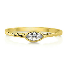 BERRICLE 10K Yellow Gold 0.25 ct.tw Marquise Topaz Solitaire Wedding Bridal Ring