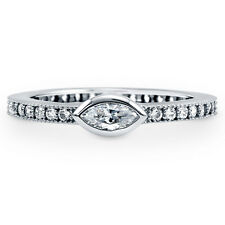 BERRICLE Sterling Silver 0.775 Carat Marquise CZ Solitaire Promise Fashion Ring
