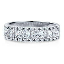 BERRICLE Sterling Silver CZ Anniversary Half Eternity Band Ring 1.59 Carat