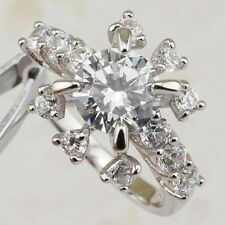 Size 5 6 7 Gallant Nice White CZ Multi Gems Gold Filled Women Gift Ring R1982