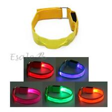 Bracciale Braccialetto Luminoso in Nylon LED Luce Vari Colori Party Mascherata