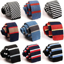 Unique Cool Men Tie Knit Knitted Tie Necktie Narrow Slim Skinny Woven 23 Colors