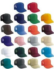 Classic Trucker Baseball Golf Mesh Unisex Cap Hat- 15 Plain Colors