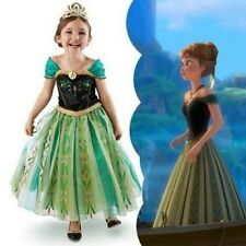 New Frozen Princess Anna Girls Kids Dress Skirt Cosplay Costume 2-8Y
