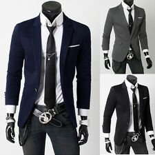 Mens Stylish Slim Fit One Button Business Suit Casual Blazer Coat Jacket Outwear