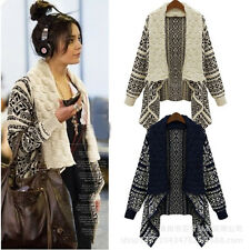 Hot Women's Casual Long Sleeve Knitted Cardigan Loose Sweater Jacket Coat 4color