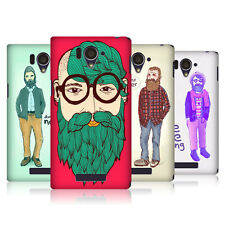 Head CASE DESIGNS vieux HIPSTERS COQUE POUR Sharp Aquos SERIE shl25 LTE