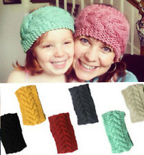 Flower new Crochet Headband Knit Hairband Winter Women Ear Warmer Headwrap