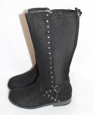NEW ~ Michael Kors Girls Kids Tall Faux Suede Boots Black