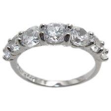 Gorgeous Sterling Silver 1.60 Carat CZ Wedding Band Ring Size 6-9
