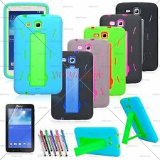 Hybrid Case Rugged Stand Shockproof Hard Cover for Samsung Galaxy Tab 3 LITE 7.0