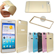 For OPPO R5 Luxury Ultra-thin Metal Arc Aluminum Bumper+ PC Back Cover Skin Case