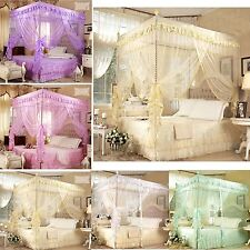Romantic ! 4 Corner Post Bed Canopy Mosquito Full/ Queen Sizes Netting