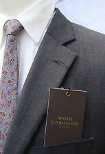 TASSO ELBA MENS CHARCOAL GRAY GLEN PLAID SUIT PLEATED SLACKS NWT FIRST QUALITY