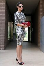 ZARA Combined Leopard Print Sheath Dress Size S New with tag