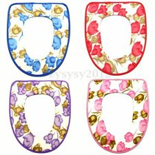 Folding Padded Potty Toilet Mat Warmer Toilet Washable Cloth Seat Cover Soft