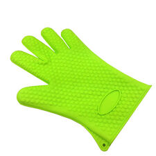 Kitchen Heat Silicone Resistant Glove Oven Mitts & Potholders BBQ Cooking Mitts