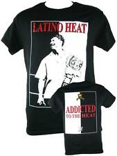 Eddie Guerrero Scarface Addicted to the Heat Mens Black T-shirt