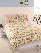 Vintage Retro VW Campervan Bedding - Single, Double or King Size Quilt Cover Set