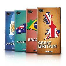 STUFF4 Back Case/Cover/Skin for Sony Xperia Z1 Compact/Flag Nations