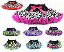 Pettiskirt Tutu Zebra Rock Star Princess Party Pageant *NWT 1-10 Yr U-Pick Color